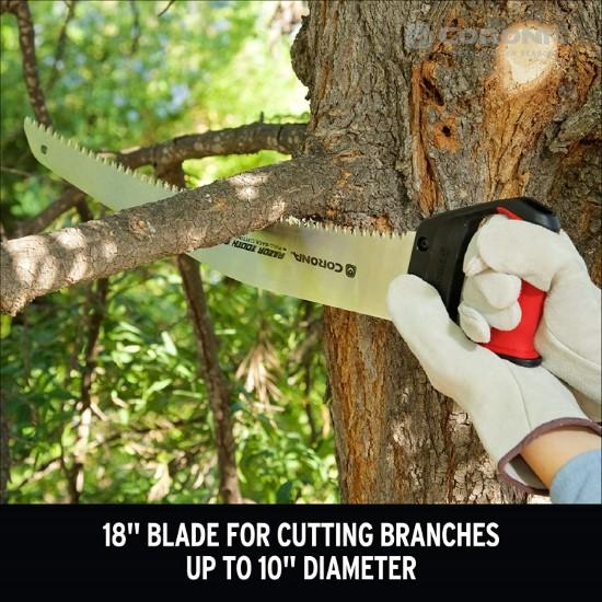 Corona 18 Inch Heavy Duty Hand Saw Best Hand Saw for Cutting Logs