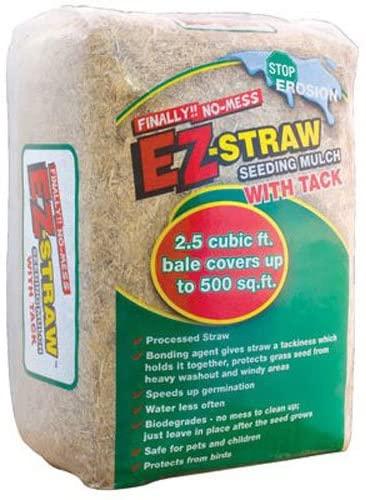 EZ Straw 2.5 CU FT Bale Seeding Mulch Biodegradable For Garden Best Mulch for Garden 1