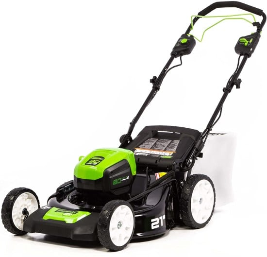 Greenworks Cordless Self propelled Lawnmower Best Lawn Mower for Small Gardens