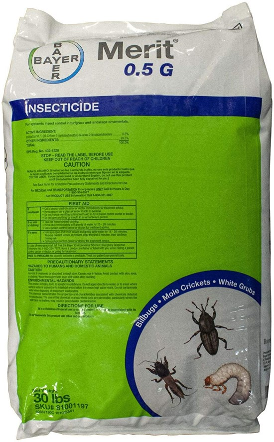 Merit 0.5 Granular Systemic Insect Control Best Grub Worm Killers