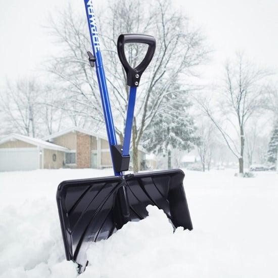 Snow Joe Shovelution Strain Reducing SJ SHLV01 Snow Shovel Best Snow Shovel