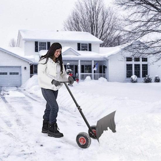 TUFFIOM Multi Angle Heavy Duty Wheeled Snow Shovel Best Snow Shovel 2