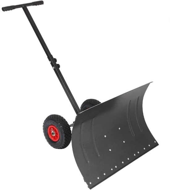 TUFFIOM Multi Angle Heavy Duty Wheeled Snow Shovel Best Snow Shovel