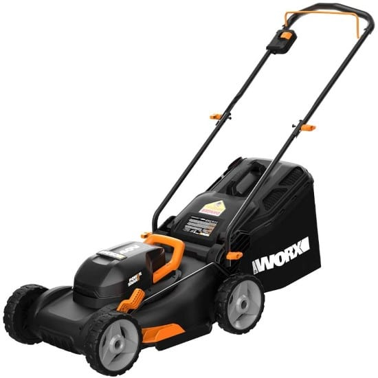 WORX WG743 Cordless Lawn Mower Best Lawn Mower for Small Gardens